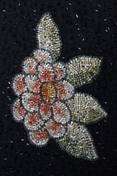 Beadwork on a 1920s dress...