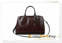 2012 New Prada Deerskin Tote Handbag BR4743 Bordeaux www.soaho-bags.us