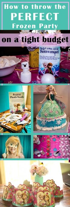 Check out these simple, cheap ideas for throwing the perfect Frozen party! | The Mommies