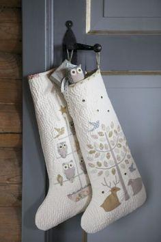 Tilda  Hjemmelaget og lykkelig-beautiful quilted stockings