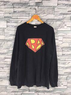 2a3ac613 A BATHING APE Jumper Pullover Large Nigo Hip Hop Japan Bape Superman Logo  Style Ape Shall Never Kill Ape Sweatshirts Sweaters Black Size L