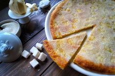 Sugar pie or cake of Perugia - translation required Easy Smoothie Recipes, Easy Smoothies, Good Healthy Recipes, Snack Recipes, Dessert Recipes, Tapas, Belgium Food, Buttery Shortbread Cookies, Cinnamon Cream Cheeses