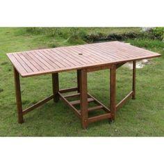 Tavolo in legno teak gigante di forma rettangolare | Salotti da ...