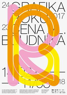 """danielvojtisek: """"Grafika Roku 2017 – a poster for the Czech national competition of graphic arts. Graphic Design Posters, Graphic Design Typography, Graphic Design Illustration, Graphic Design Inspiration, Branding Design, Tag Art, Graffiti, Architecture Tattoo, Poster Layout"""