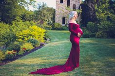 Maya burgundy slim fit maternity gown with sleeves and train /wedding gown/bridal gown/photo props/senior prop
