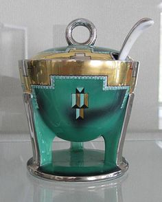 Noritake Art Deco sugar bowl. Found on veniceclayartists.com