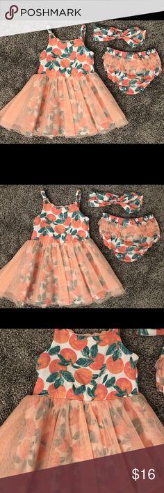 cbe448f9f Catherine Malandrino Toddler Dress - Size 18 M Catherine Malandrino Orange  Print Tutu Dress 🍊 Size