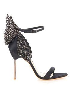 Sophia Webster Evangeline angel-wing satin sandals