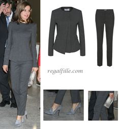 Queen Letizia's sophisticated look for National Library of Spain Board Meeting