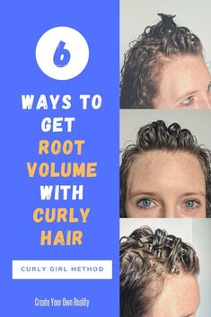 Help your naturally curly hair look it's best with these root volume curly hai. - - Help your naturally curly hair look it's best with these root volume curly hair care tips. Avoid the flat triangle look with these curly girl method t. Dark Curly Hair, Curly Hair Tips, Curly Hair Care, Frizzy Hair, Thin Hair, Long Hair, Curly Afro, 4c Hair, Kinky Hair