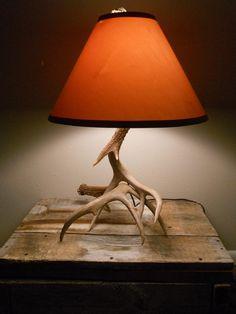 White Tail antler lamp. $185.00, via Etsy.