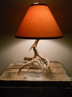 White Tail antler lamp. $185.00, via Etsy.