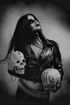 (38) black metal girl | Tumblr