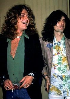 Robert Plant and Jimmy Page of Led Zeppelin #JimmyPage #RobertPlant #LedZeppelin…