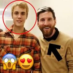 . #Justin with @fcbarcelona's players today❤. -  He's not bad to be honest. -  @leomessi @luissuarez9 @neymarjr ❤.