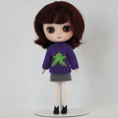 New to AnneArchy on Etsy: Middie Blythe doll Superstar Sweater knitting PATTERN - long and short sleeve sweater - instant download - permission to sell finished items (5.00 USD)