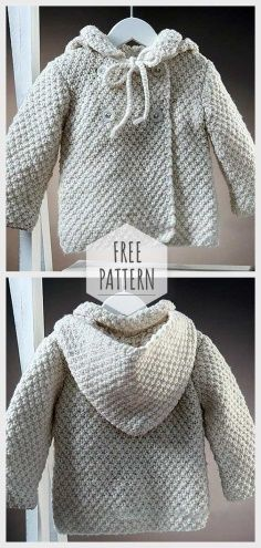 Soft Baby Cardigan Free Pattern for kids cardigans Cardigan Au Crochet, Cardigan Bebe, Crochet Jacket, Cardigan Pattern, Baby Knitting Patterns Free Cardigan, Crochet Coat, Booties Crochet, Jacket Pattern, Knitted Baby Clothes