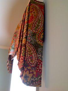 Window treatment by Fabric Ornamentation