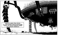 Ciudades mecánicas andantes... con sorpresas en su interior. DESIERTO DE METAL. Un #cómic de Agrimbau y Baldó  http://www.grafitoeditorial.com/shop/desierto-de-metal/