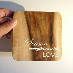 Beautiful wooden coasters with a personal touch