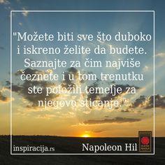 Inspirišimo se zajedno! #um #verovanja #misli http://www.inspiracija.rs/index.php/autori/napoleon-hil/100-zlatna-pravila