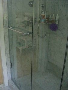 White Vinegar weekly to keep shower doors sparkling & crystal clear.