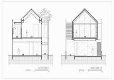 Gallery of 'HHH' House / Simple Projects Architecture - 74 Roof Architecture, Education Architecture, Residential Architecture, Villa Design, Facade Design, Layouts Casa, House Layouts, Narrow House Designs, Small House Design