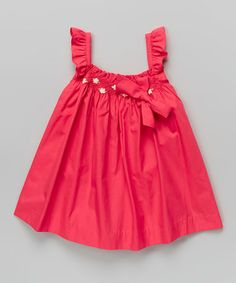 Loving this Hot Pink Smocked Angel-Sleeve Dress - Infant & Toddler on #zulily! #zulilyfinds
