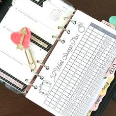 FREE DOWNLOAD: 52-week savings plan. insert for filofax, kikki k, kate spade, franklin covey planner! printable.