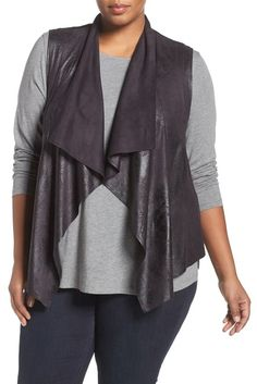 Tart | Hudsen Shimmer Faux Suede Vest (Plus Size) | Nordstrom Rack Fashion Editor, Latest Fashion Trends, Plus Size Outerwear, Nordstrom Beauty, Plus Size Pants, Looking For Women, Plus Size Women, Plus Size Outfits, Plus Size Fashion