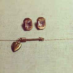 Vintage Pre-World War Czechoslovakia Stone, Emerald Hayes Earrings by Kristin Morris Jewelry