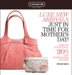 The Official Coach Factory 48Hour Online Sale starts NOW 0606