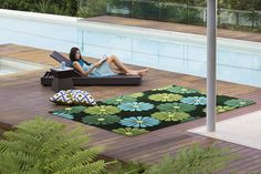 Jamie Durie Transterior indoor/outdoor range now available from The Rug Collection. Geisha Green www.therugcollection.com.au