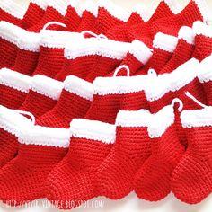 patron gratis botita navideña crochet amigurumi