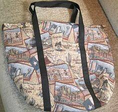 Handmade Tote Bags Texas Tapestry
