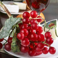 Artificial Red Grape Cluster Stem