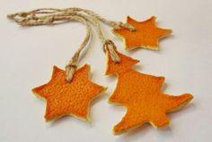 Новогоднее украшение из кожуры мандарина