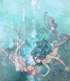 Sailor Neptune   Michiru and Haruka - Sailor Uranus and Sailor Neptune Fan Art ...