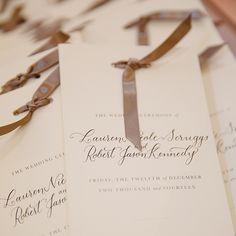 wedding program calligraphy - Google Search
