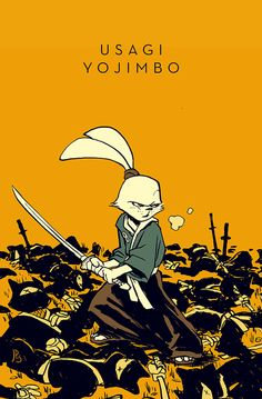 Usagi Yojimbo. Original for sale in my shop. I'm donating 100% of the sale from this piece to the Stan Sakai benefit for his wife's medical bills. More info on that here.