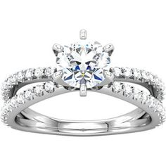 Contemporary Engagement Ring form European Jewelry