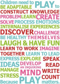 I believe play is central and fundamental to effective learning in P-2 classrooms