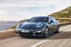 The Porsche Panamera, known for blending four-door luxury and performance, is stepping up its game with more power, a longer wheelbase and more comfort-oriented features. Read on to find out more about the 2014 Porsche Panamera Turbo S. Carros Porsche, Porsche Autos, New Porsche, Porsche Cars, Mini Vans, Ferdinand Porsche, Ferrari Laferrari, Cristiano Ronaldo, Porsche Panamera Turbo S