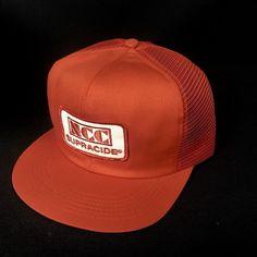 3db48489108 Vtg K Products NCC Supracide Big Patch Snapback Baseball Hat Mesh Trucker  USA