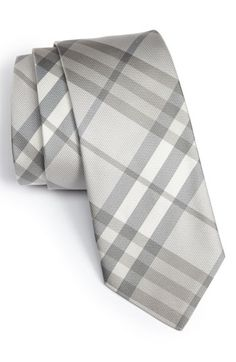 Burberry check print silk tie