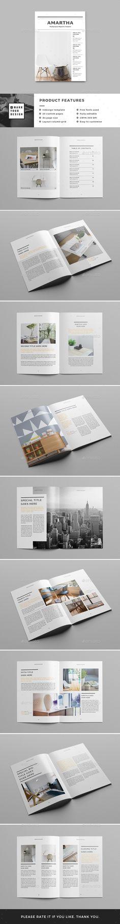 Clean Magazine Template | Print templates, Indesign magazine ...