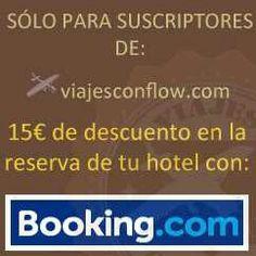 Encuentra el banner navegando por la columna derecha de nuestro blog y consigue tu descuento! Http://www.viajesconflow.com/blog/ #descuentos #promociones #regalos #cupones #booking