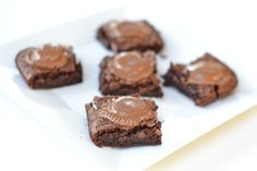 Reese's brownies.  I love the idea of topping brownies off with melted Reese's pb cups!