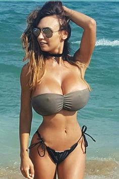 Apologise, but, in bikinis chests huge boring