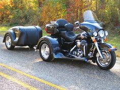 Motor Trike Trog Conversion for Harley-Davidson FL Series - Sokakpost Used Motorcycles For Sale, Cool Motorcycles, Goldwing Trike, Harley Davidson Trike, Davidson Bike, Motos Harley, Volkswagen, Custom Trikes, Motorcycle Trailer